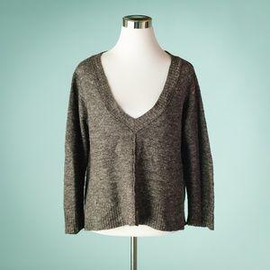 Eileen Fisher M Grey Wool Linen Sweater